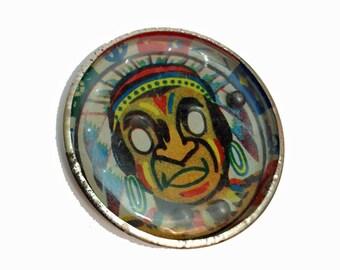 1pc LITHO INDIAN PUZZLE Vintage Dexterity Game