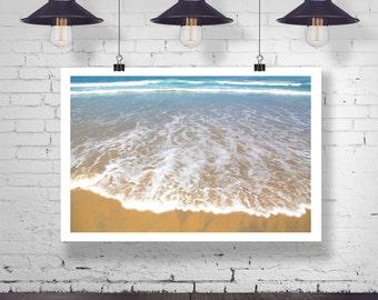 Photograph - Mission Beach San Diego Sun Sand Beach Ocean Sea Wave  - Fine Art Photography Print Wall Art Home Decor