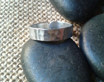Aluminum ring, ring, ring, ring, Adjustable ring hammered man woman