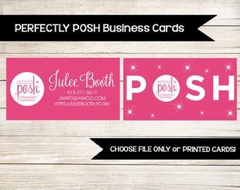 PERFECTLY POSH | Business Card | Custom | Girls Facial | Direct Sales | Printed