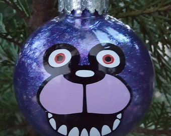 Bonnie 5 Nights At Freddy's Face Parody Christmas Holiday Ornament  * Add Year and/or Name for FREE to back  * 5NAF * Five * FNAF