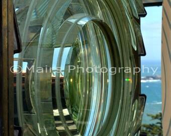 Fresnel Lens Lighthouse Oregon, Cape Blanco, Pacific Northwest Beach Decor, Fine Art Photography matted & signed 5x7 Original Photograph