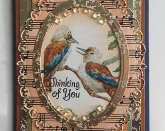 Set of 4 Intricatly Gold Designed Thinking Of You Cards