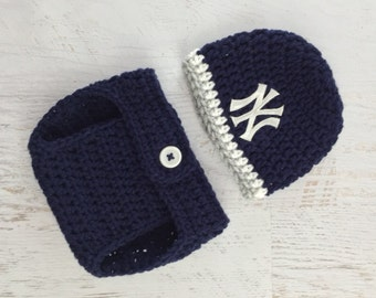 Baby Yankees Hat, Baby Boy Hat, Baby Girl Hat, Yankees Diaper Cover Set, Yankees Baseball Hat, New York Yankees Baby Hat, Newborn Prop