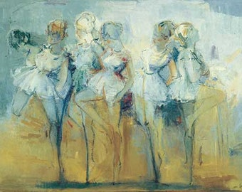 Dancers 60 X 79 cm. Limited edition 250, Signed