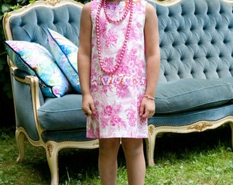 Sis Boom Shannon Girl's Shift Dress Sewing Pattern PDF E-Book with Scientific Seamstress