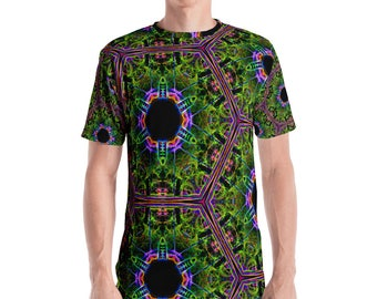 Blazing Green Kaleidoscopic Men's T-shirt