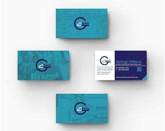 Business Card Design - Branding Identity, Print materials.