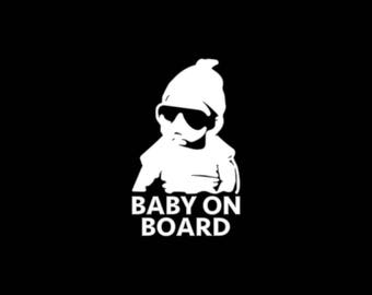 Baby On Board Decal Window Bumper Baby On Board Car Decal Laptop Sunglasses Baby Decal