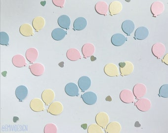 Balloon confetti, Party Decor, Glitter Confetti, Party Decorations, Red, Black and Gold Glitter, other colours available