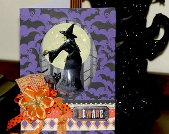 The Witching Hour Halloween Card