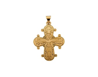 14kt Yellow Gold Dagmar Cross Pendant with Packaging