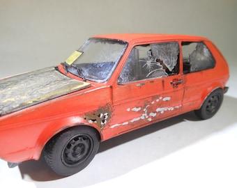 VolkswagonRabbit,CarModelHobby,OldSchool,RustedWreck,CrashedCar,RunRabbitRun