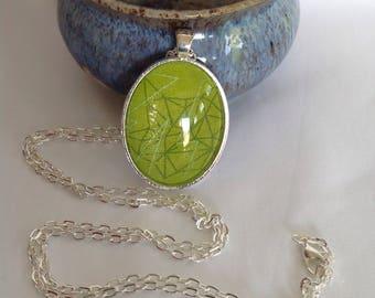Bezel Set Fabric Necklace | Libs Elliott Fabric | Quilters Necklace | Quilt Fabric Necklace | Gift for Quilter | Quilters Jewellery