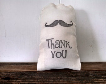 Mustache Favor Bag Muslin Bag Thank You Party Baby Shower Gift Groomsmen Gift Rustic Wedding Welcome Birthday Party Cloth Western Country