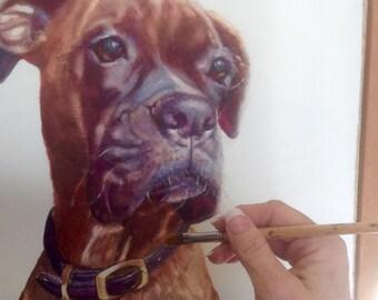 Have me paint a custom watercolor portrait of your pet!