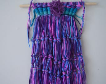 Purple wall hanging / Wall weaving