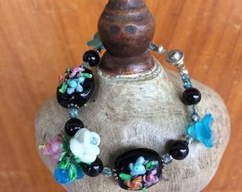 Leaves and Flowers bracelet