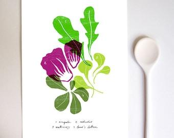 SALAD - Kitchen Art Print / Food Art / high quality fine art print