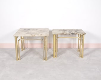 Set of 2 Hollywood Regency Coffee Tables,1970