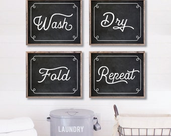 Laundry Room Decor. Laundry Room Sign. Laundry Room Decorations. Laundry Room Wall Art. Laundry Room Prints. Wash Dry Fold. Farmhouse Art