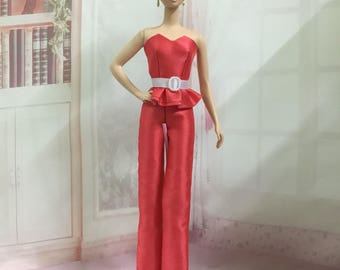 Handmade Strapless and Pants for Silkstone Barbie Doll