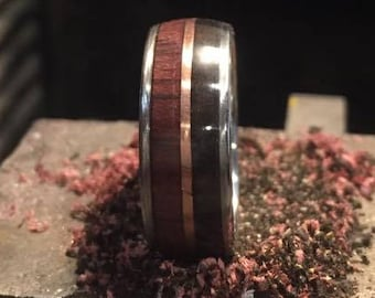 Ebony and Purpleheart with Copper Inlay