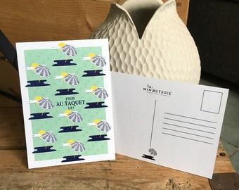 """Postcard + envelope """"I stop here!"""" - Collection Perds not South - Made In France - eco"""