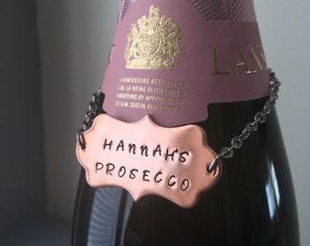 Personalised Bottle Tag, Wine Bottle Tag, Bottle Tag, Decanter Tag, Wine Tags, Personalised Gift