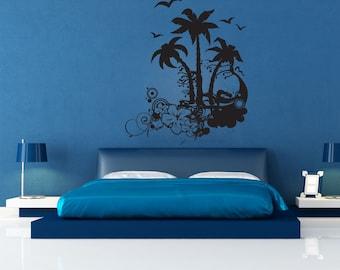 Vinyl Wall Decal Sticker Tropical Art 1196m
