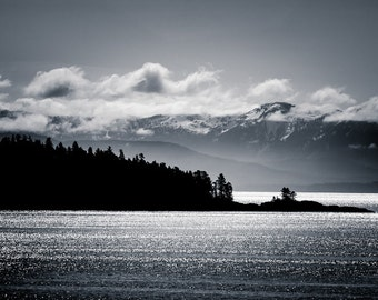 Alaska Wall Art - Black and White Landscape Photography Home Decor Fine Art Photography Large