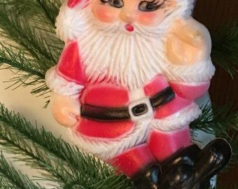Santa ornament plastic 1970's Hong Kong