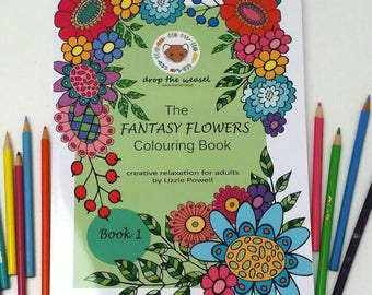 The Fantasy Flowers Colouring Book,Creative Relaxation For Adults, Coloring Book, Adult Colouring, Coloring for Adults