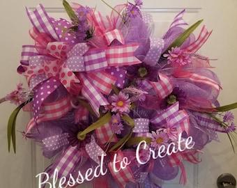 Spring Wreath, Front Door Wreath, Custom Door Wreath, Best Door Wreath,