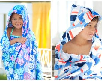 Kids Hooded Towel, Monogram Hooded Towel, Personalized Hooded Towel, Boys Hooded Towel, Girls Hooded Towel, Kids Beach Towel, Mermaid Towel