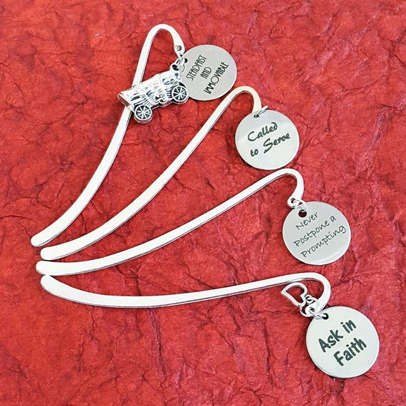 LDS Bookmarks, CUSTOM Gifts for LDS Missionaries Primary Young Men Women, Bookmark Word Charms, Girls Camp Craft, Youth Conference Theme