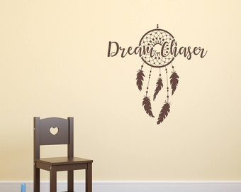 Dream catcher decal, Dream chaser decal, dreamcatcher decal, chase your dreams, boho dream catcher, large dream catcher, follow your dreams