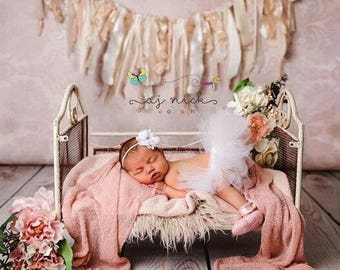 Newborn tutu set, Preemie tutu set, 0-3 Month Tutu set, White newborn tutu set, White newborn tutu, baby shower gift, photo prop