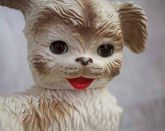 Vtg rubber puppy toy