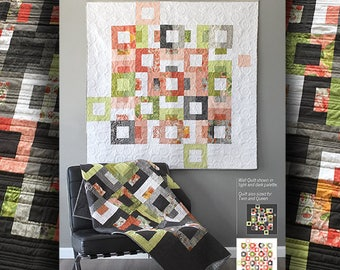 Quilt Pattern (digital download PDF) of BLOCKSTEP Quilt by Robin Pickens / Layer Cake & Jelly Roll friendly/ Wall, Twin, Queen Sizes