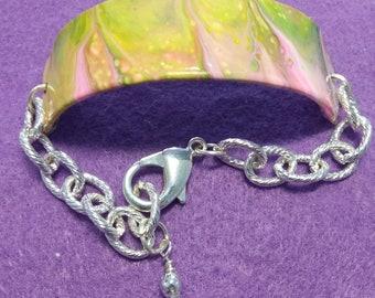 Acrylic Pour Bracelet #7