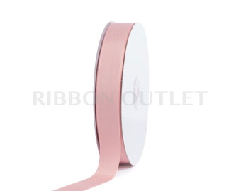 "7/8"" Blush Vintage Rose Pink Grosgrain Ribbon 50 Yards Per Roll"