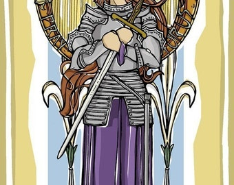 St. Joan of Arc Prayer Card