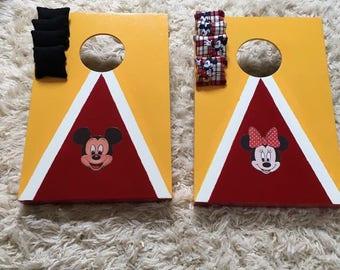 Micky vs Minnie Bean Bag toss Game