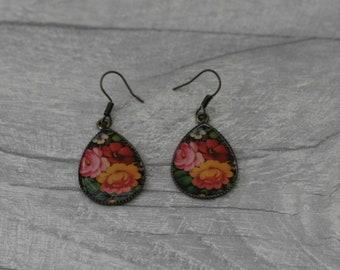 Flower Earrings, Floral Jewelry, Flower Accessory
