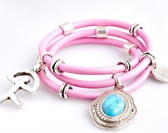 ART44 Extravagant Pink Men's Bracelet
