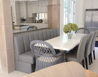 Kitchen Banquette With Channel Back