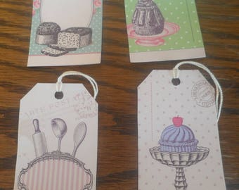 Set of 4 gift tags or other