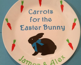 Carrots for Easter Bunny Plate