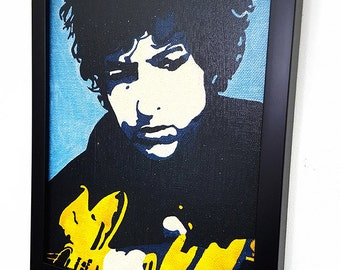Bob Dylan Wall Art Framed Canvas Art Print Paint Poster Painting Mixed Media Wall Hanging Forever Young Rock and Roll art Wall Decor